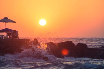 photography outside emotions nature travel beautiful crete creece holiday summer sunset colourful water waves enjoy