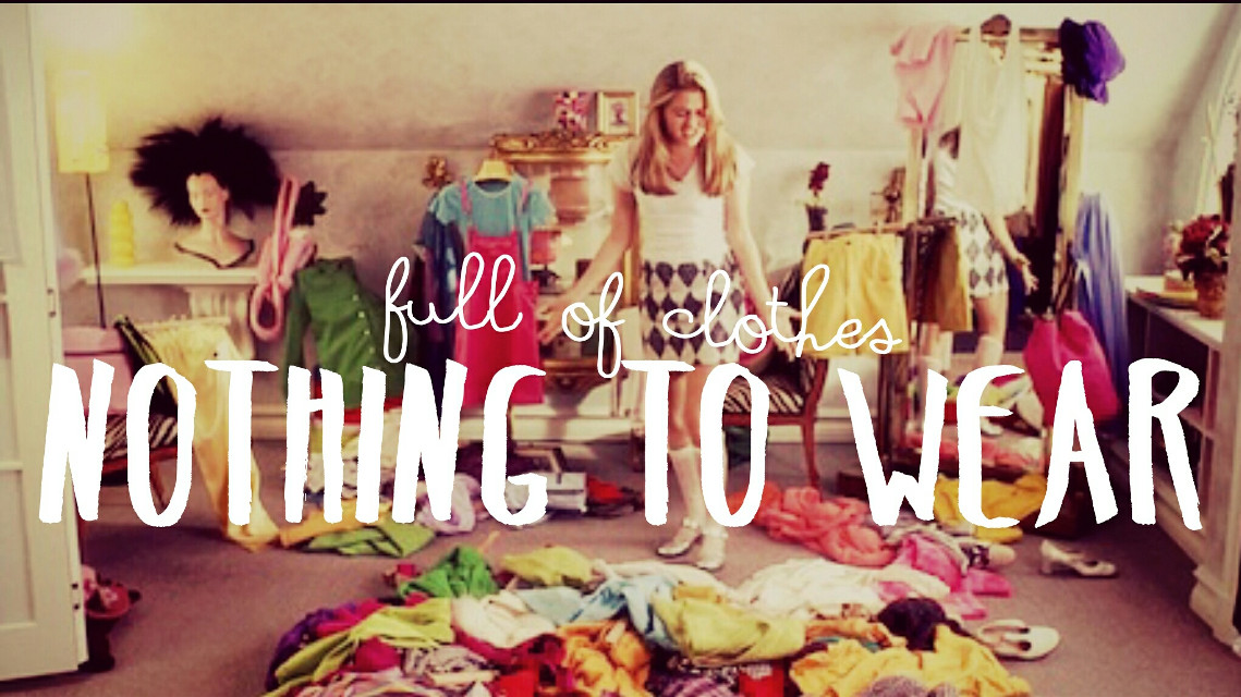 Full of clothes, nothing to wear. Created by Kayedee Butac via PicsArt. :)
