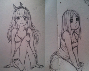 drawing pencil art girl sketches anime