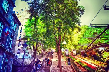 colorful color splash montmartre paris photography quotes & sayings