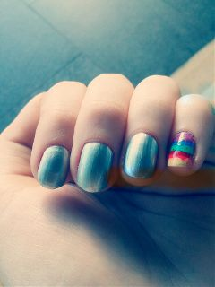 photography nails rainbow silver nailpolish