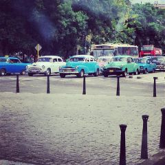 cars vintage travel colorful