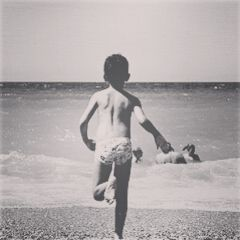photography vintage summer black & white old photo beach