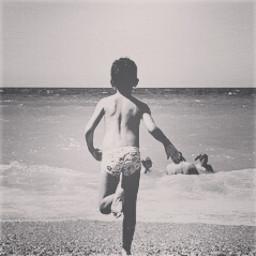 photography vintage summer black & white old photo beach