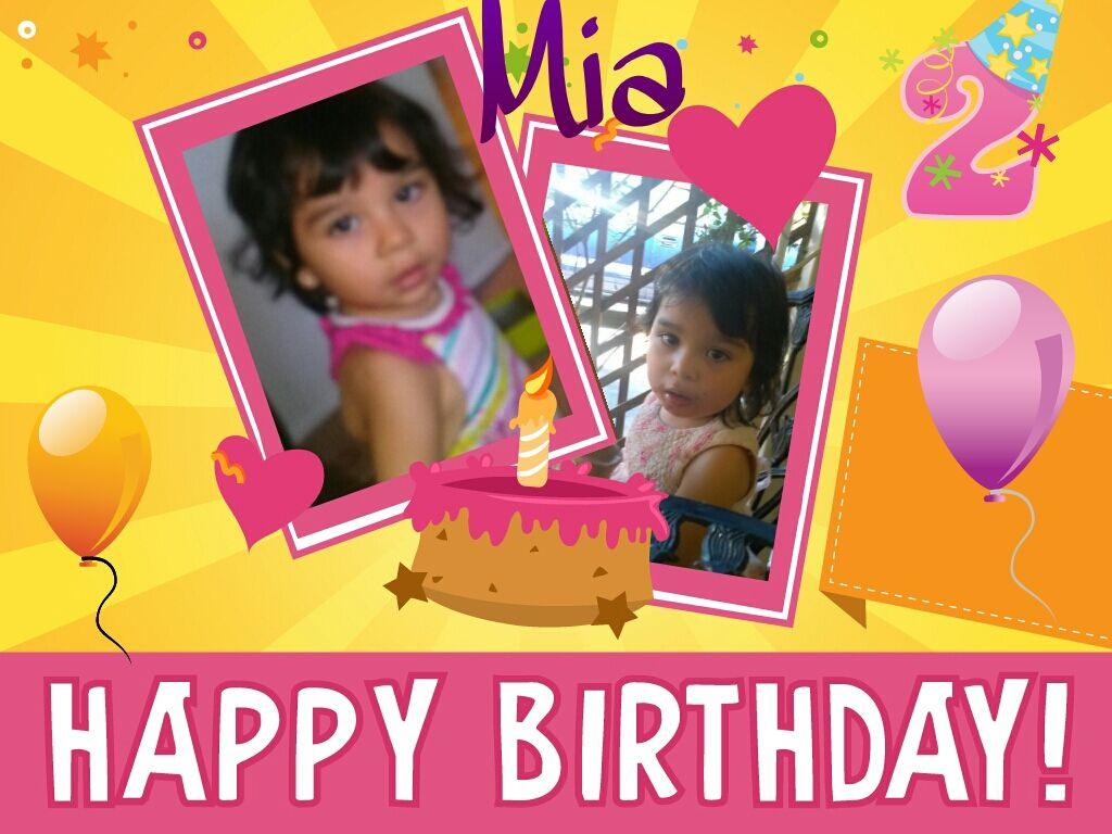 Happy Birthday To My Sobrina Mia She The Most Aborable