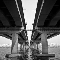 korea black & white architecture travel photography