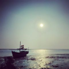 sunset boat sea sunset boat
