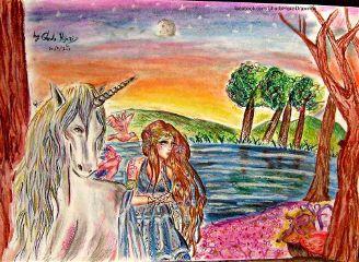 drawing art painting fantasy unicorn
