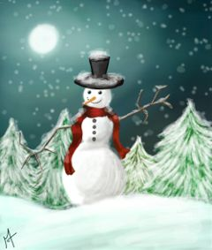 snow drawing draw christmas dcsnowman