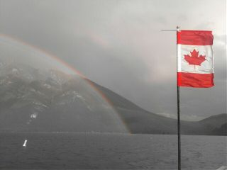 canada banff rainbow