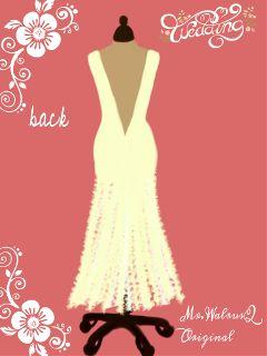 drawing fashion wedding dress