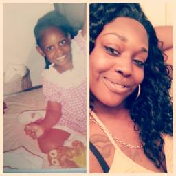 backthen now pretty grownwomannow e