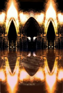 abstract water reflection light architecture